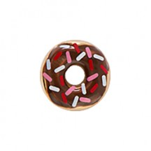 CHOCOLATE COVERED DONUT WITH SPRINKLES CHARM