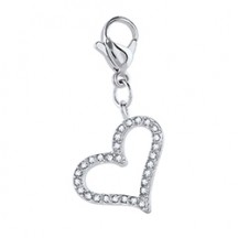 PAVÉ 02 HEART DANGLE IN SILVER