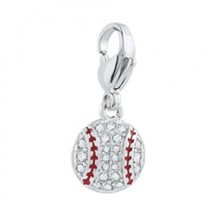 PAVÉ BASEBALL DANGLE WITH SWAROVSKI CRYSTALS*