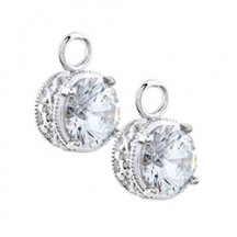ROUND CRYSTAL EARRING DROPS