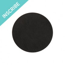 Inscriptions Large Black Round Plate