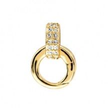 GOLD CRYSTAL CLASP