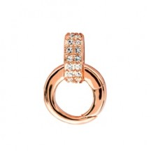 ROSE GOLD CRYSTAL CLASP