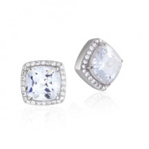 The Sophia Silver Stud Earrings with Pavé Swarovski Crystals