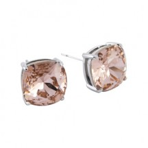 The Clara Stud Earrings with Vintage Rose Swarovski Crystals