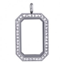 SILVER HERITAGE LIVING LOCKET WITH SWAROVSKI CRYSTALS