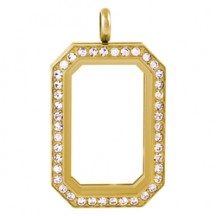 GOLD HERITAGE LIVING LOCKET WITH SWAROVSKI CRYSTALS