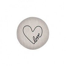 MEDIUM SILVER ENDLESS LOVE PLATE