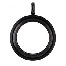 MEDIUM BLACK TWIST LIVING LOCKET BASE