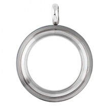 MEDIUM SILVER TWIST LIVING LOCKET BASE