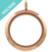 INSCRIPTIONS LARGE ROSE GOLD TWIST LIVING LOCKET BASE