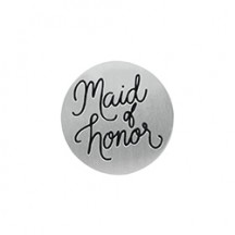 MEDIUM SILVER MAID OF HONOR PLATE